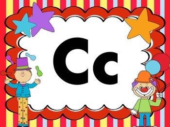 Print Letter Posters - Circus Theme