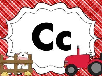 Cursive Letter Posters - Farm Theme