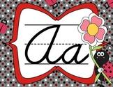 Cursive Letter Posters - Ladybug Theme