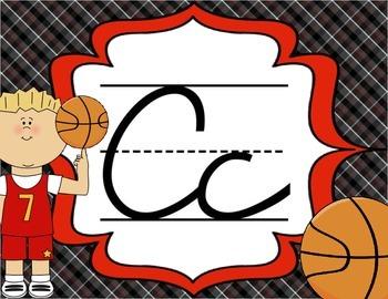 Cursive Letter Posters - Sports Theme