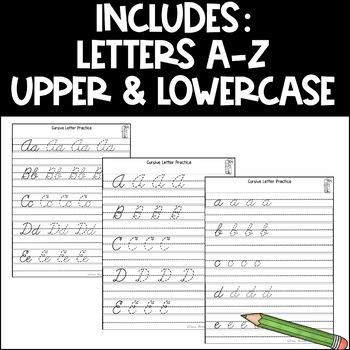 Cursive Letter Practice