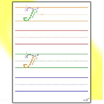 Penmanship - Cursive T