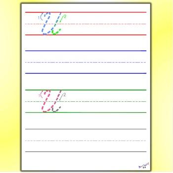 Cursive Handwriting Worksheets - Cursive U