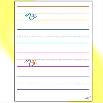 Cursive Practice Sheets - Cursive V