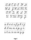 Cursive Letters Chart