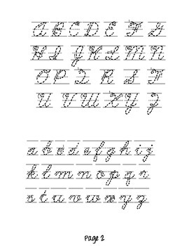 capital letters in cursive a z cursive letters chart by estrella teachers pay teachers 13744