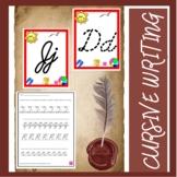 Cursive Writing Letters - D'Nealian Style