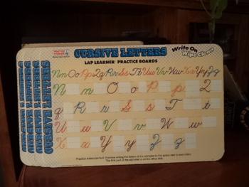 Cursive Letters Lap Learner    (Set of 4)