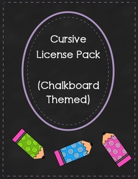 Cursive License (Chalkboard Theme)