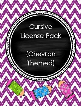 Cursive License (Chevron Theme)