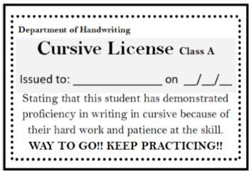 Cursive License FREE!!