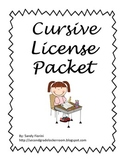 Cursive License Packet