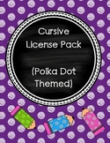 Cursive License (Polka Dot Theme)
