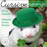 Cursive Limericks Practice