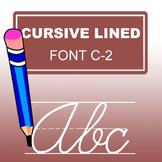 Cursive Lined Font