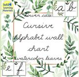 Cursive Lower Case Alphabet Wall Cards
