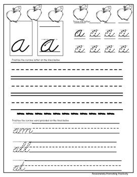Cursive Lowercase Practice