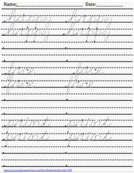 Cursive Handwriting Practice Made Easy