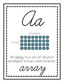 Cursive Math Alphabet (3rd Grade)