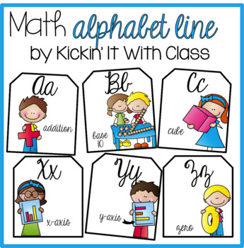 Cursive Math Alphabet {Scrappy Kid Edition}
