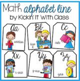 Cursive Math Alphabet {Scrappy Kid Edition}
