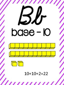 Cursive Math Alphabet-Stripes