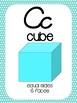 Cursive Math Alphabet- Teal & Lime Green