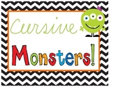 Cursive Monsters {Handwriting, Craftivity, Adjectives, & Narrative Writing}