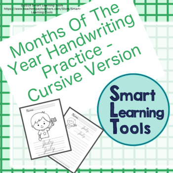 Cursive Handwriting Practice: Months of the Year by Smart Learning Tools