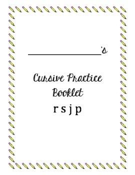 Cursive Packet letters r s j p