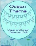 Cursive Pennant Flags Ocean Theme