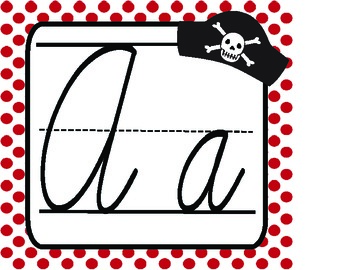 Cursive Pirate Alphabet