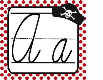 Cursive Pirate Alphabet