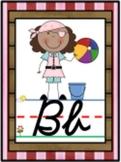 Cursive Pirate Alphabet Line Posters A-Z