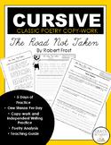 Cursive Copywork Poetry: The Road Not Taken