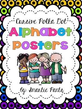 Cursive Polka Dot Alphabet Posters