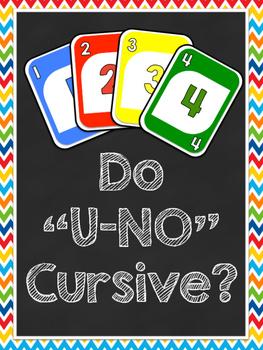 """Do """"U-No"""" Cursive? Poster"""