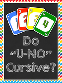 "Do ""U-No"" Cursive? Poster"