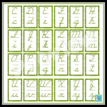 Cursive Posters - Green Swirls