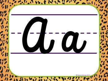 Cursive Posters {Jungle-Safari Themed}