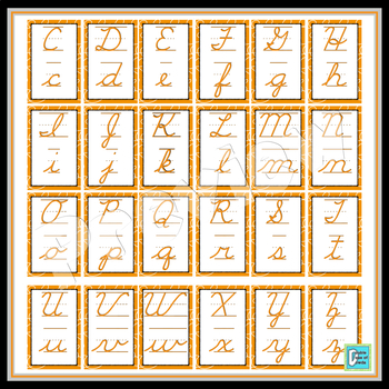 Cursive Posters - Orange Swirls