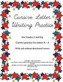 Cursive Practice A to Z