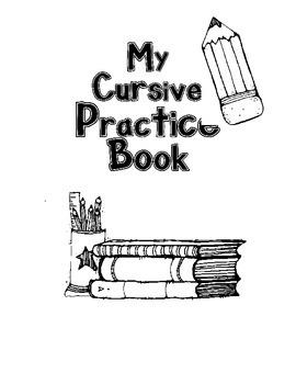 Cursive Practice Book Cover