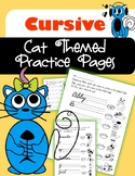 Cursive Practice Cat Style