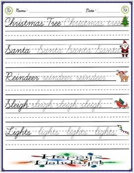 Cursive Practice - Christmas