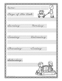 Cursive Practice: Days, Months, and Seasons