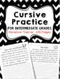 Cursive Practice (For Intermediate Grades) ~Science Theme