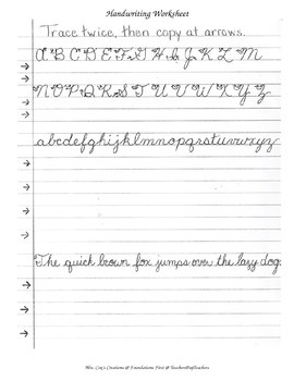 Cursive Handwriting Practice - Writing, Language. by Foundations First