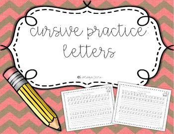 Cursive Practice: Letters of the Alphabet