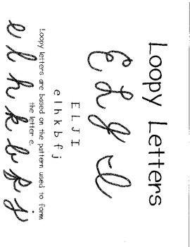 Cursive Practice- Loopy Letters